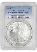 2014-w Burnished Silver Eagle Pcgs Sp70