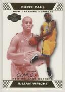 2007-08 Topps Co-signers Gold Red /109 Julian Wright Chris Paul 82.2 Rookie