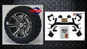 Ezgo Txt Electric Golf Cart 6 Lift Kit + 14 Terminator Wheels And 23 At Tires