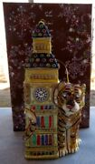 Jay Strongwater Big Ben With Tiger Ornament Elements New In Box