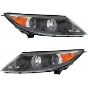 Headlight Set For 2011-2012 Kia Sportage Left And Right With Bulb Capa 2pc