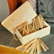 Fatwood Storage Box With Rope Handles