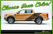 2019 And Up Ford Ranger Pick-up Tire Track Mud Vinyl Stripes Graphics Style 11