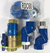 New Dormont Gas Kit Safety Quik Quick Disconnect Valve And Swivel Max Connectors