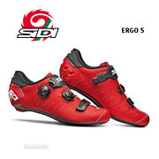 New Sidi Ergo 5 Road Cycling Shoes Matte Red/black