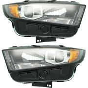 Headlight For 2015-2018 Ford Edge Sport Pair Lh And Rh
