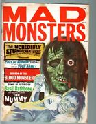 Mad Monsters 10-1965-basil Rathbone-shock Theater-hercules-pix And Info-char Vg