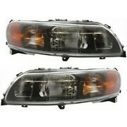 Headlight Set For 2001 2002 2003 2004 Volvo S60 Left And Right With Bulb 2pc