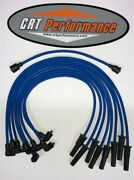 Fe Ford 352 360 390 406 427 428 Blue 8mm Silicone Spark Plug Wires Points - Usa