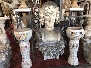 Mosaic Style Old Pots With Stand