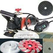 Wet Polisher Grinder 4 Polishing Pad Grinding Cup 36 Piece Stone Concrete Renew