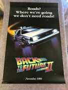 Back To The Future 2 Orig 1989 Ultra Rare Commerical Movie Poster 25x39 F/vf