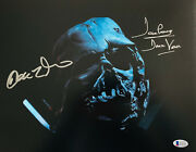 Prowse And Driver Signed Star Wars Darth Vader Kylo Ren 16x20 Photo Beckett 2