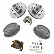 Front And Rear Pads Rotors Shoes Drums And Hardware Kit For Chevy Gmc Isuzu New