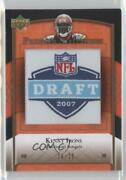 2007 Ud Premier Stitchings Draft/team Logos Bronze /20 Kenny Irons Ps-16 Rookie