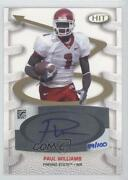 2007 Sage Hit Playmakers /100 Paul Williams Pa1 Rookie Auto
