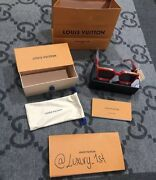 New Louis Vuitton Virgil Abloh Millionaires 1.1 Sunglasses Red Limited In Hand