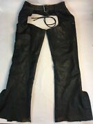 Harley Davidson Leather Chaps Size M Lined Motorcycle Gear
