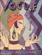 Vintage Art Deco-vogue Poster/art Print/elite Womanand039s Magazine/1930and039s Style 5x7
