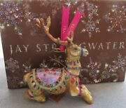 Jay Strongwater Prancer Reindeer Ornament Elements New In Box