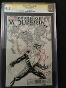 Death Of Wolverine 1 Quesada 1500 Variant 9.8 Ss Signed By Charles Soule