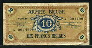 Belgium 1946, Military Occupation Of Germany 10 Francs, M4, Vf