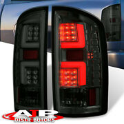 Smoked Led Tail Lights Neon Tube For 2007-2008 Dodge Ram 1500 07-09 2500 3500