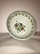 Lc2 Large Staffordshire Pearlware Mixing Bowl Leeds Floral 5 Color Ca. 1820andrsquos