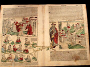 Incunableschedeland039s Great Double-page Abraham Sodom And Gomorrha Xxi And Xxii