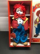 Chips Musical Porcelain Doll/clow By Russ Send In The Clowns
