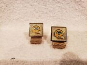 Ultra Rare 1960's Green Bay Packers Team Issued Gold Cuff Links, Wow-mint