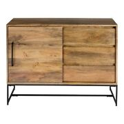 40 W Contemporary Sideboard One Of A Kind Hand Crafted Natural Mango Wood