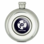 Negative Space Black Hole Funny Humor Round Stainless Steel 5oz Hip Drink Flask