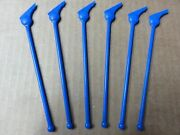 Six Rare 1940s Pan Am Paa Blue Wings Swizzle Sticks - Authentic - Never Used