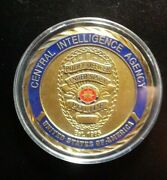 Central Intelligence Agency Police Officer Challenge Coin  Bb750dhh