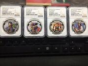 2011 Niue 2 Real Pirates Of The Caribbean Pf70 Ultra Cameo Colored