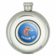 Krillin' It Killing Funny Humor Round Stainless Steel 5oz Hip Drink Flask