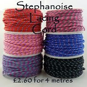 3mm Stephanoise Bright Neon Multi-coloured Lacing Lace Cord - Yacht Guy Shoe Bag