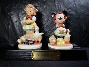 Hummel Goebel Disney Be Patient Mickey Mouse Limited Figure In Box