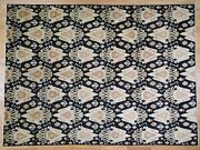 9and0392x12and0394 Hand Knotted Black Ikat Pure Wool Oriental Rug R44743