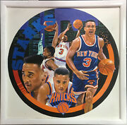 Terrence Fogarty Signed Original John Starks Canvas Oil Painting Framed Auto 1/1
