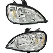 Halogen Headlight Set For 2004-2015 Freightliner Columbia Left And Right Pair