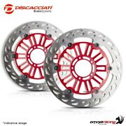 Pair Of Front Floating Discs Discacciati Light 330 Red Ducati 1198 Bayliss 2009