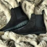 Paul Hardt Womens Boot Black Chelsea Brushed Suede Luxury 1 Year Guarantee Wow