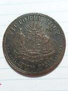 1862 1d Jaand039s Davey Andco Australia Penny Token Gipps Land Store Foster St Ef
