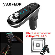 Car Hands-free Wireless Bluetooth Fm Transmitter Mp3 Player Usb Charger Devices