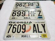 3 2003/04 Georgia ...on My Mind Hall License Plates Pre-owned
