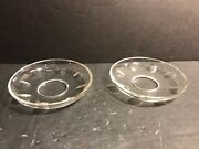 Pair Of Antique Crystal Bobeche, Probably By Baccarat / France / Cut Crystal