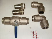 2 Dn50 Stainless Steel Ball Valve, Fittings, Elbows Plumbing Compression