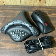 Polycom Voicestation 300 Conference Phone W/ Wall Module 300/500. Grade A.